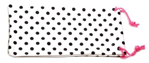 Polka-Dot Microfiber Drawstring Eyeglass Case