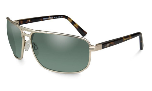 Wiley X Hayden in Satin Gold and Polarized Green Lenses