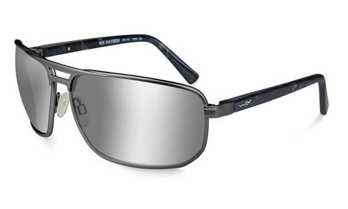 Wiley X Hayden in Matte Dark Gunmetal and Polarized Silver Flash Lenses