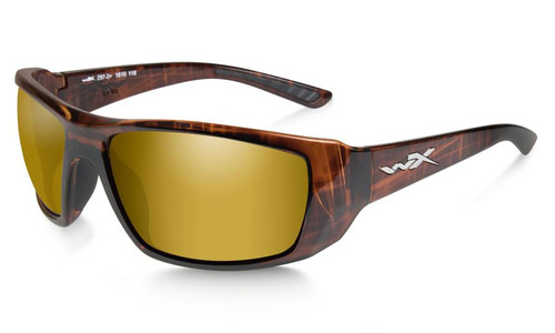 Wiley X Kobe in Hickory Brown Fade and Polarized Venice Gold Mirror Lens