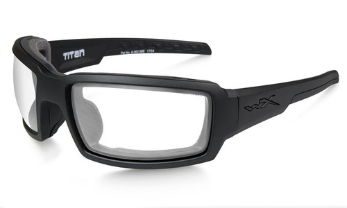 Wiley X Titan in Matte Black with Clear Lens