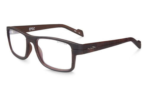 Wiley X Designer Eyeglasses EpicWSEPC04 in Matte Hickory Brown 55mm :: Rx Single Vision