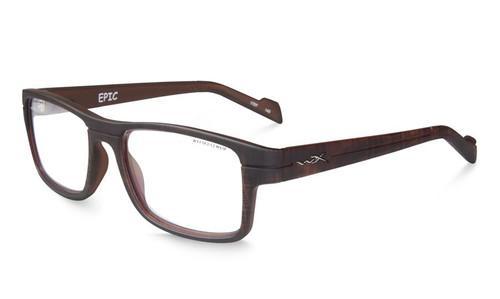 Wiley X Designer Eyeglasses EpicWSEPC04 in Matte Hickory Brown 55mm :: Progressive