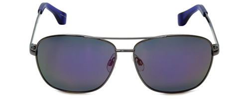 Isaac Mizrahi Designer Sunglasses Aviator in Gunmetal with Purple Mirror