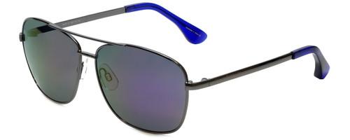 Isaac Mizrahi Designer Sunglasses Aviator in Gunmetal with Purple Mirror