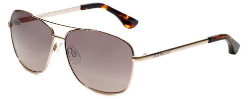 Isaac Mizrahi Designer Sunglasses Aviator in Gold with Rose Gradient