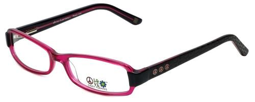Daisy Fuentes Designer Eyeglasses DFPEACE410-130 in Berry Black 52mm :: Custom Left & Right Lens