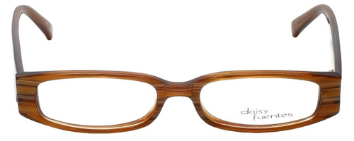 Daisy Fuentes Designer Eyeglasses DFMIA-247 in Brown Pearl 49mm :: Rx Single Vision