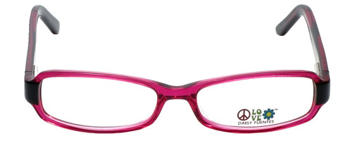 Daisy Fuentes Designer Eyeglasses DFPEACE410-130 in Berry Black 52mm :: Rx Single Vision