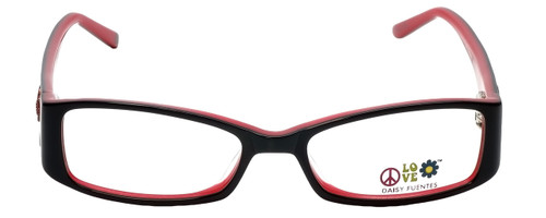 Daisy Fuentes Designer Eyeglasses DFPEACE417-021 in Black 50mm :: Rx Single Vision