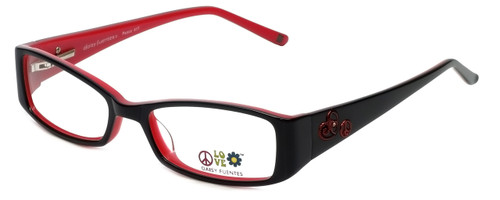 Daisy Fuentes Designer Reading Glasses DFPEACE417-021 in Black 50mm