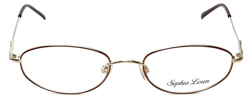 Sophia Loren Designer Eyeglasses SL-M171-963 in Burgundy/Gold 50mm :: Custom Left & Right Lens