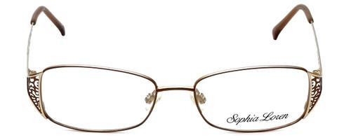 Sophia Loren Designer Eyeglasses SL-M177-183 in Brown/Gold 51mm :: Custom Left & Right Lens