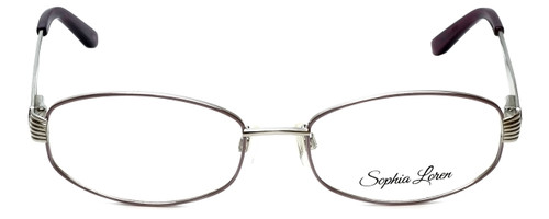 Sophia Loren Designer Eyeglasses SL-M242-341 in Muave/Silver 53mm :: Custom Left & Right Lens