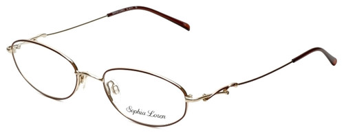 Sophia Loren Designer Eyeglasses SL-M171-963 in Burgundy/Gold 50mm :: Rx Single Vision