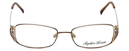 Sophia Loren Designer Eyeglasses SL-M177-183 in Brown/Gold 51mm :: Progressive