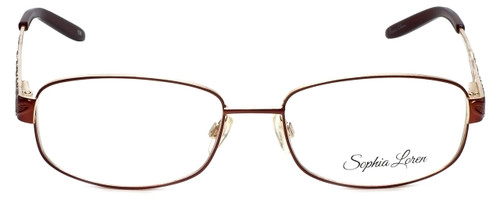 Sophia Loren Designer Eyeglasses SL-M243-077 in Burgundy 55mm :: Rx Bi-Focal