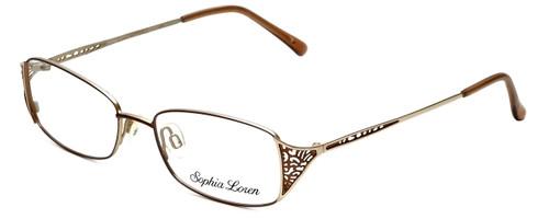 Sophia Loren Designer Reading Glasses SL-M177-183 in Brown/Gold 51mm