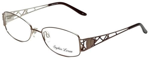 Sophia Loren Designer Reading Glasses SL-M191-038 in Taupe 55mm