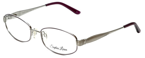 Sophia Loren Designer Reading Glasses SL-M242-341 in Muave/Silver 53mm