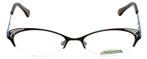 Project Runway Designer Eyeglasses PR122M-171 in Brown Aqua 52mm :: Rx Single Vision