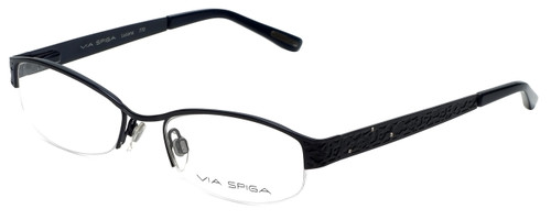 Via Spiga Designer Eyeglasses Luciana-770 in Navy 51mm :: Custom Left & Right Lens