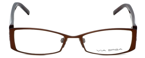 Via Spiga Designer Eyeglasses Lustria-550 in Brown 52mm :: Custom Left & Right Lens