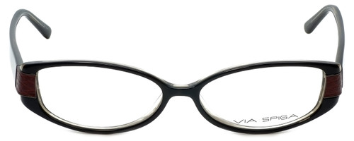 Via Spiga Designer Eyeglasses Domicella-500 in Black 53mm :: Progressive