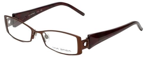 Via Spiga Designer Reading Glasses Lustria-550 in Brown 52mm