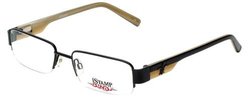 iStamp Designer Eyeglasses XP606M-021 in Black 53mm :: Custom Left & Right Lens
