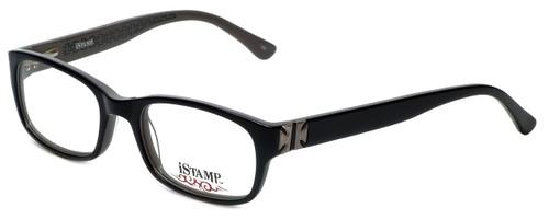 iStamp Designer Eyeglasses XP613Z-021 in Black 50mm :: Custom Left & Right Lens