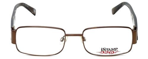 iStamp Designer Eyeglasses XP601M-183 in Brown 52mm :: Rx Single Vision