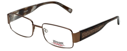 iStamp Designer Eyeglasses XP601M-183 in Brown 52mm :: Progressive