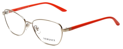 Versace Designer Eyeglasses 1221-1252-52 in Pale Gold/Orange 52mm :: Progressive
