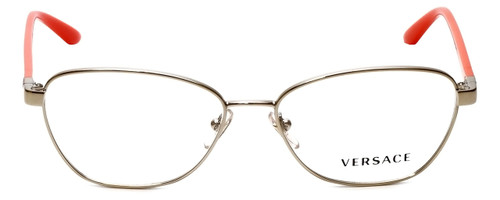 Versace Designer Reading Glasses 1221-1252-54 in Pale Gold/Orange 54mm