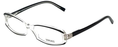 de7face3053 Versace Designer Eyeglasses 3040B-139 in Crystal Black 54mm    Custom Left    Right Lens