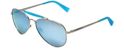 Nautica Designer Sunglasses N5114S-045 in Silver with Blue Flash Mirror