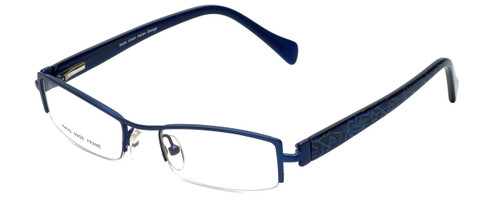 Moda Vision Designer Eyeglasses E3108-BLU in Blue 49mm :: Custom Left & Right Lens