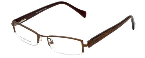 Moda Vision Designer Eyeglasses E3108-BRN in Brown 49mm :: Custom Left & Right Lens