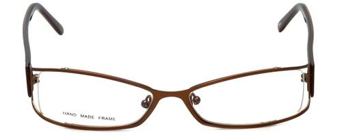 Moda Vision Designer Eyeglasses FG6501E-BRN in Brown 53mm :: Custom Left & Right Lens