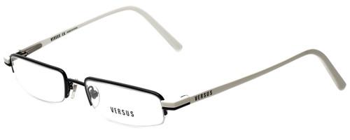 Versus by Versace Designer Eyeglasses 7044-1009 in Black/White 50mm :: Custom Left & Right Lens