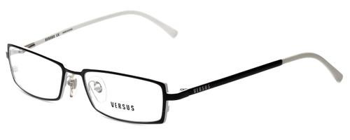 Versus by Versace Designer Eyeglasses 7047-1009-52 in Black/White 52mm :: Custom Left & Right Lens