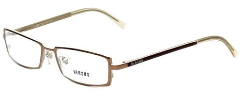 Versus by Versace Designer Eyeglasses 7047-1013 in Light Brown 52mm :: Custom Left & Right Lens