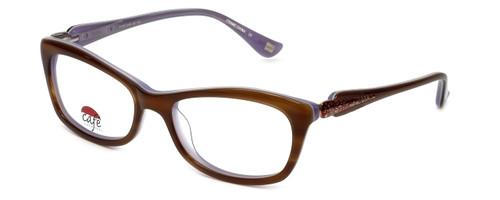 Silver Dollar Designer Reading Glasses Café 3161 in Caramel Lilac 52mm