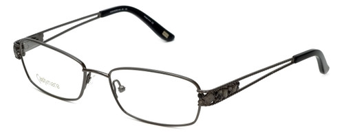 Silver Dollar Designer Reading Glasses Cashmere 446 in Graphite 53mm