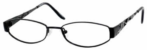 Valerie Spencer 9197 Designer Reading Glasses in Black Silver