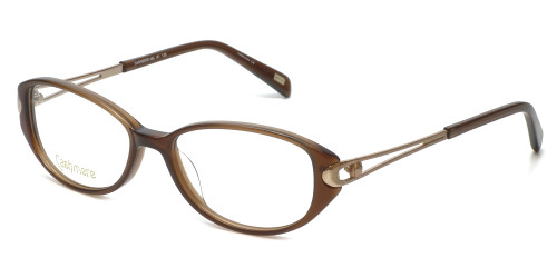 Silver Dollar Designer Reading Glasses Cashmere 463 in Honey 50mm