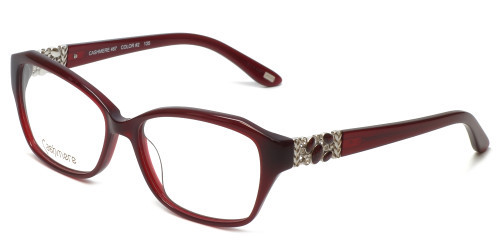 Silver Dollar Designer Reading Glasses Cashmere 467 in Auburn 53mm