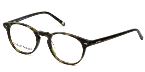 Silver Dollar Designer Reading Glasses CLD-9143 in Green Tortoise 48mm