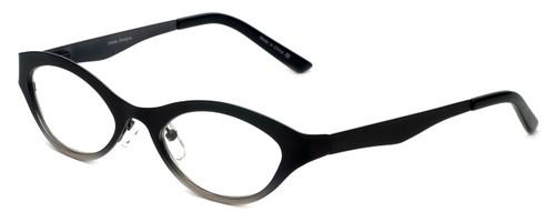 Cinzia Designer Reading Glasses Jitterbug C2 in Black Gunmetal 46mm